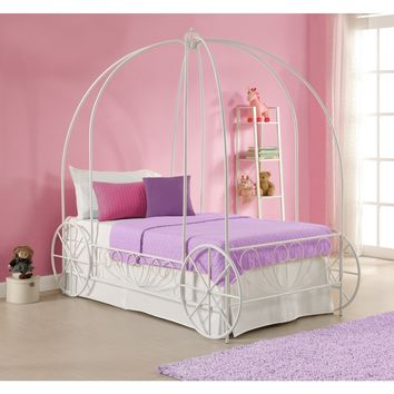 Princess Carriage Twin Metal Bed