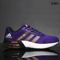 ADIDAS Galaxy Men Shoes Knitting Flying Line Running Fashion Leisure TravelA Shoes B-SSRS-CJZX Purple