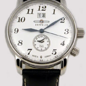 Graf Zeppelin LZ127 Big Date Dual Time Zone Watch 7644-1