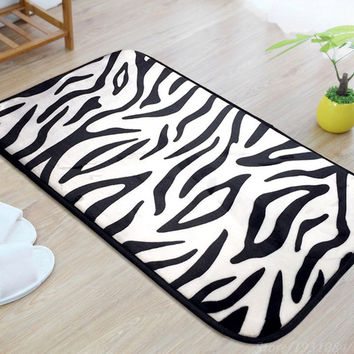 Zebra/Leopard Carpet For Living Room Rectangle Rug Doormat Kitchen Bathroom Door 40*60cm/50*80cm/40*120cm Home Decoration