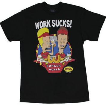 Work Sucks - Beavis And Butthead T-shirt - MyTeeSpot - Your T-shirt Store