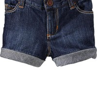 Cuffed Denim Shorts for Baby