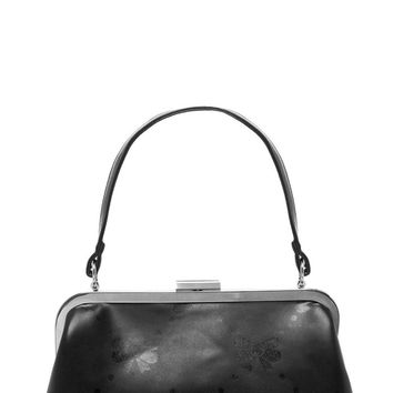 Betsy Bow Print Purse in Black   Blame Betty