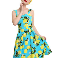 Lemon Turquoise Swing Dress