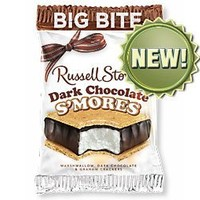 Russell Stover S'mores Big Bite Candy Bar - Dark Chocolate (2 Ounce, Pack of 18)