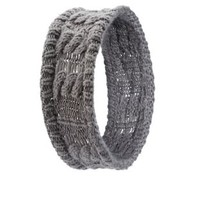 Charcoal Cable Knit Head Wrap by Charlotte Russe