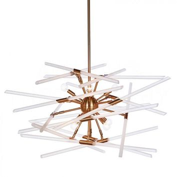 Buy Solitude Chandelier, Brass design by Aidan Gray Online at Burkedecor – BURKE DECOR