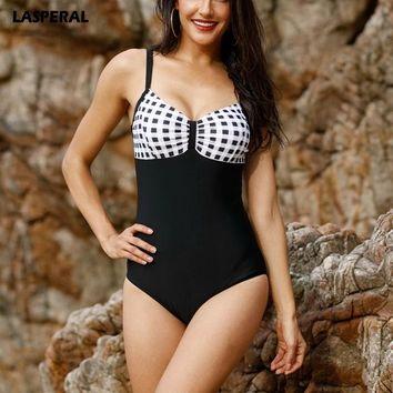 LASPERAL 2017 Sexy One Piece Suit Women Push Up Swimsuit Swimwear Plus Size Beach Bandeau Bikini Bathing Suit Maillot De Bain