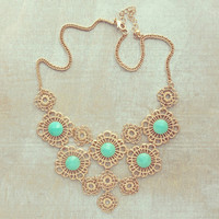 Pree Brulee - Mint Lace Necklace