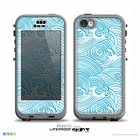 The Seamless Blue Waves Skin for the iPhone 5c nüüd LifeProof Case