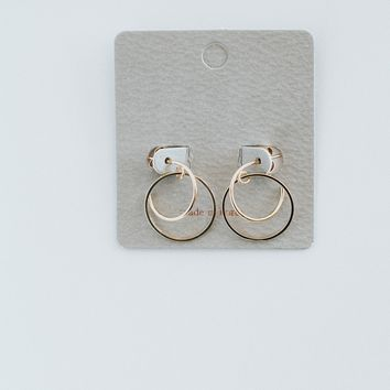 Mini Double Hoop Earring