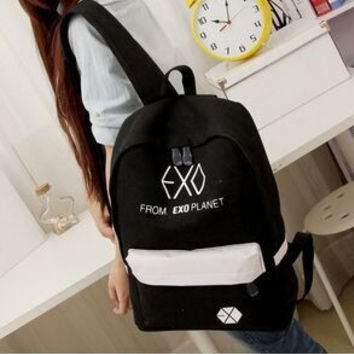 2017 new Women's Colorful Canvas Backpacks Rucksacks Men Student School Bags For Girl boy Casual Travel EXO bags Mochila B140