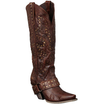 Lane Boots Women's 'Stud Rocker' Leather Cowboy Boots | Overstock.com Shopping - The Best Deals on Boots