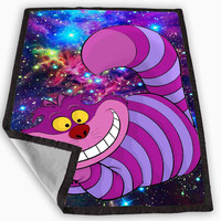 Alice Wonderland Cheshire Cat Nebula Blanket for Kids Blanket, Fleece Blanket Cute and Awesome Blanket for your bedding, Blanket fleece *