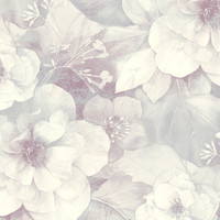 Soft Floral Wallpaper in Grey and Purple design by Seabrook Wallcoverings