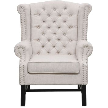 FAIRY BEIGE LINEN CLUB CHAIR