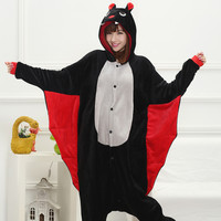 Cartoons Sleepwear Animal Couple Winter Bat Home Set Halloween Costume [9221227140]