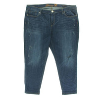 Seven7 Womens Plus Denim High Rise Skinny Jeans