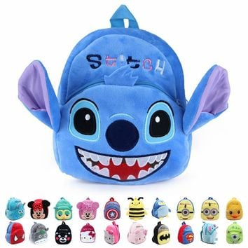 mochila Children's gifts kindergarten boy backpack Plush baby children school bags design kid girls lovely Stitch plush toy bags
