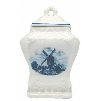 Ceramic Coffee Canister Delft Blue & White