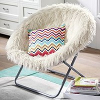 Ivory Furlicious Faux Fur Eco Lounger