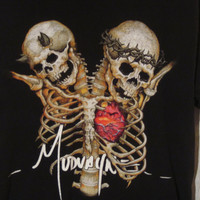 "Mudvayne ""Good and Evil"" T-Shirt, Size Medium. Upcycled Clothing. Custom Reconstruction Available."