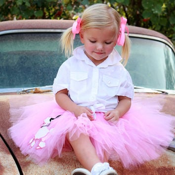 Children clothing skirt Pink Poodle Skirt Tutu by Atutudes - Created for the 2012 Golden Globe Awards Gifting Suite