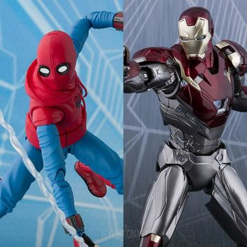 Spider Man (Homecoming) S.H.Figuarts : Spider Man (Home Maid Suit ver.) and Iron Man Mark 47 [PRE-ORDER] - HYPETOKYO