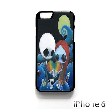 jack and sally nightmare before christmas rainbow ice cream for Iphone 4/4S Iphone 5/5S/5C Iphone 6/6S/6S Plus/6 Plus Phone case
