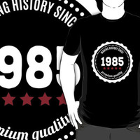Making history since 1985 badge by JJFarquitectos