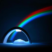 LED Rainbow Projector Lamp Night Light Room Decoration,the best gift for kids.