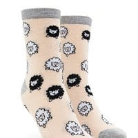 Sheep Print Crew Socks