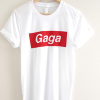 Gaga White Graphic Unisex Tee