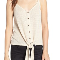 All in Favor Tie Hem Camisole | Nordstrom