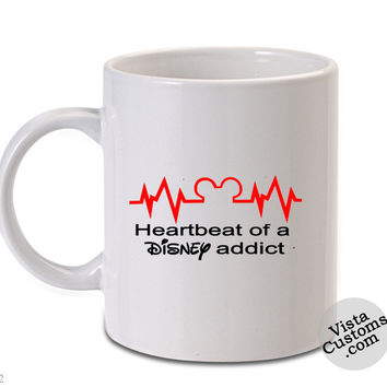 Mickey Mouse Disney Heartbeat of a Disney Addict Mug
