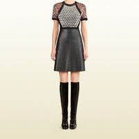 Gucci - bead embroidered a-line leather dress 362800ZDZ231269