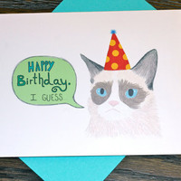 Grumpy Cat Sarcastic Birthday Card