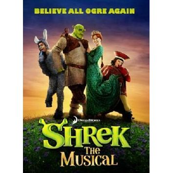 Shrek Musical Fox Theatre St. Louis poster Metal Sign Wall Art 8in x 12in