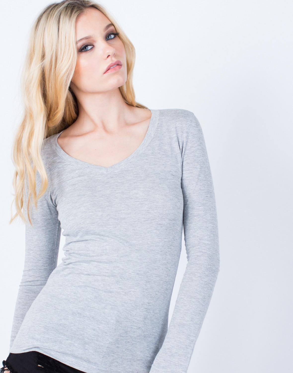 bd09fc20a Basic V-Neck Top. Save Sold. Saved to. sweaters , Shirts ...