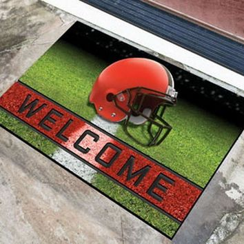 FANMATS Cleveland Browns Crumb Rubber Welcome Door Mat