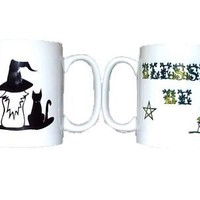 Blessed Be Witch and Cat Mug at Every Witch Way Online Shop