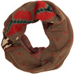 Lara Knit Infinity Scarf - Brown - One Size / Brown