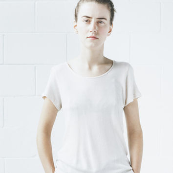 Objects Without Meaning - Scoop Neck Tee in Nude