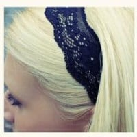 Small Black Lace Headband