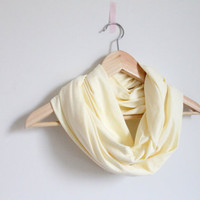Infinity scarf, pastel yellow, circle scarf, loop scarf