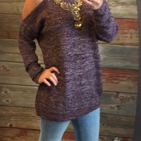 Modern Renaissance Cold Shoulder Sweater