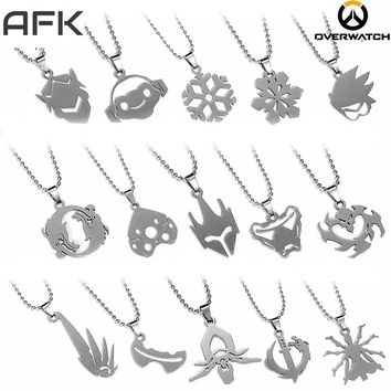 Overwatch Hero Icon Ability Necklace