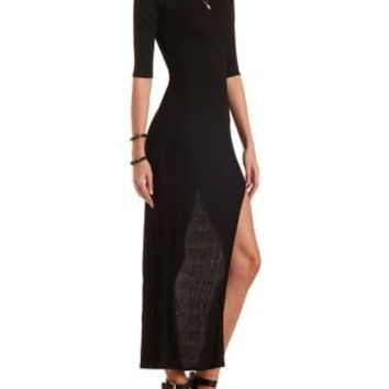 Extreme Side Slit Maxi Dress by Charlotte Russe