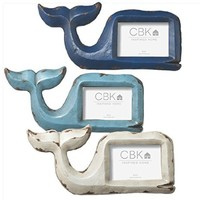 La Marina Whales- Weathered Beach Cottage Photo Frame Set of 3