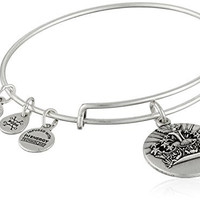 Alex and Ani Queen's Crown II Expandable Rafaelian Silver Bangle Bracelet